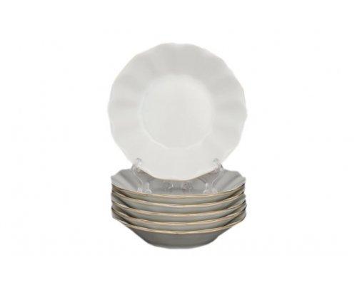 Набор розеток 11 см Бернадотт Белый узор (6 шт)