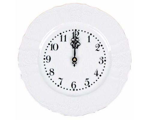 Часы круглые 27 см Бернадотт Белый узор