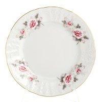 Набор тарелок 17 см Бернадотт Серая роза золото (6 шт)