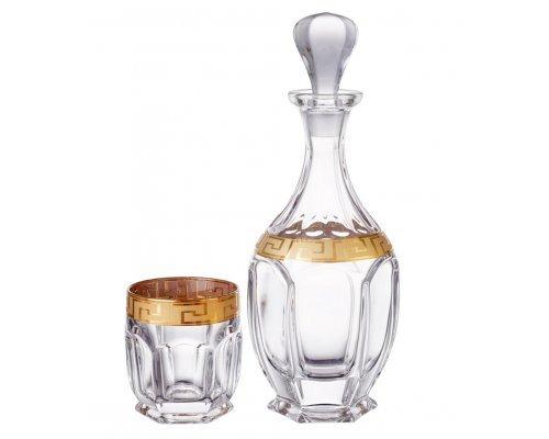 Набор для виски 7 предметов Сафари Костка Богемия Кристал (Bohemia Crystal)