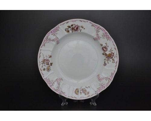 Блюдо круглое глубокое 32 см Бернадотт Розовый цветок