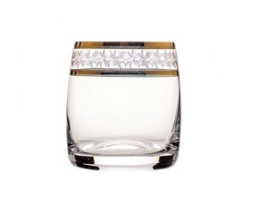 Набор стаканов для виски 290 мл Идеал Золотой лист V-D Богемия Кристал (Bohemia Crystal) (6 шт)