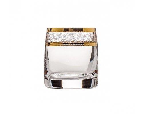 Набор стопок для водки 60 мл Идеал Золотой лист V-D Богемия Кристал (Bohemia Crystal) (6 шт)