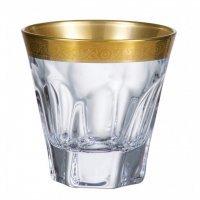 Набор стаканов для виски 230 мл Apollo Crystalite Bohemia золото 6 шт