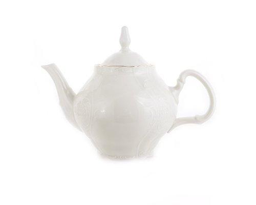 Чайник 0,7 л Бернадотт Белый узор
