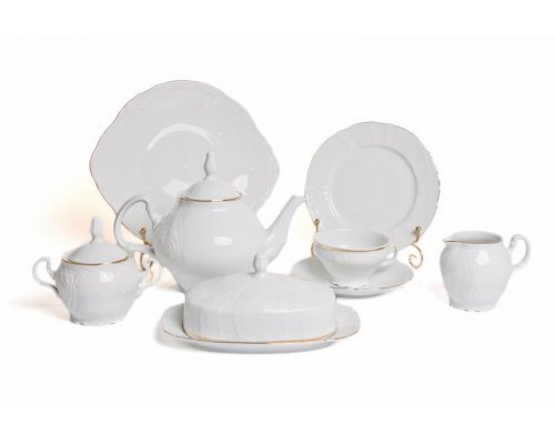 Чайный сервиз на 12 персон 43 предмета Бернадотт Белый узор