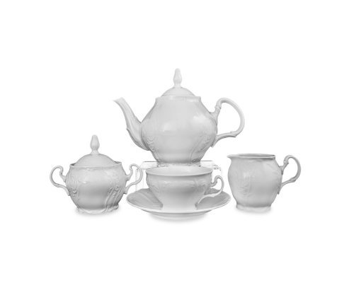 Чайный сервиз на 6 персон 15 предметов Бернадотт 0000 Недекорированный