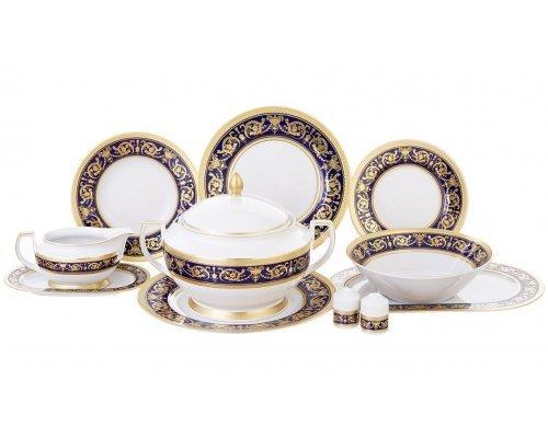 Столовый сервиз на 6 персон 27 предметов Falkenporzellan Imperial Cobalt Gold