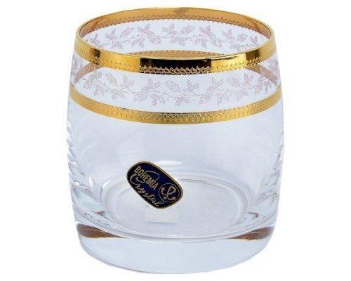 Набор стаканов для виски 230 мл Идеал Золотой лист V-D Богемия Кристал (Bohemia Crystal) (6 шт)
