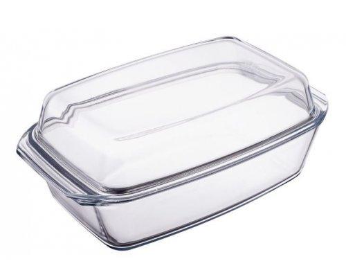 Блюдо для запекания стеклянное с крышкой 2800 мл Симакс (Simax) S-X