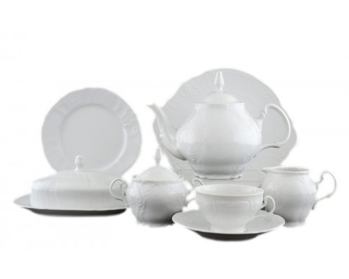 Чайный сервиз на 12 персон 43 предмета Бернадотт Платиновый узор