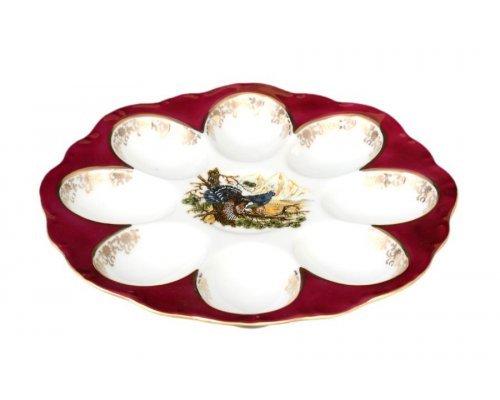 Поднос для яиц 20 см Охота красная Корона Queens Crown