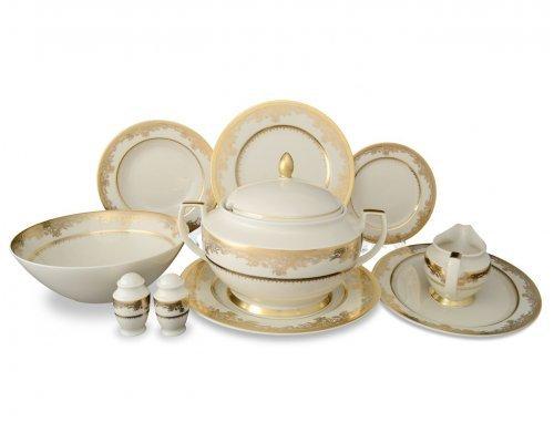 Столовый сервиз на 6 персон 26 предметов Falkenporzellan Cream Gold 9077