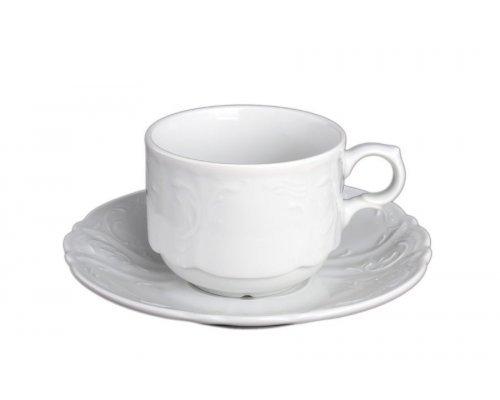 Набор чайных пар Bernadotte 0000 Недекорированный 250 мл (6 пар)