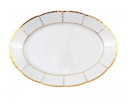 Блюдо овальное 32 см Тхун (Thun) Менуэт Отводка золото