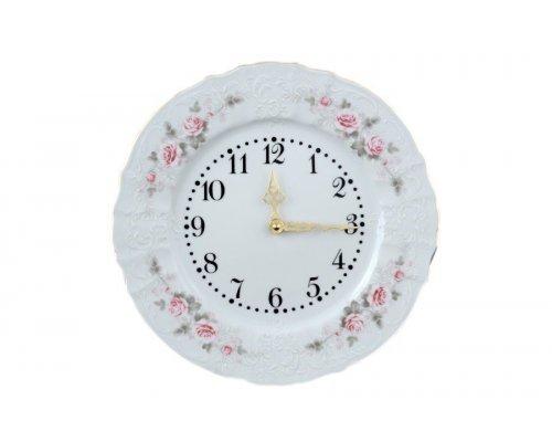 Часы круглые 27 см Бернадотт Серая роза золото