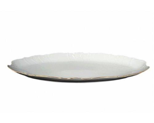 Блюдо для рыбы 65 см Бернадотт Белый узор