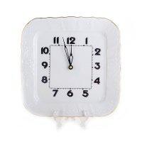 Часы квадратные 26 см Бернадотт Белый узор