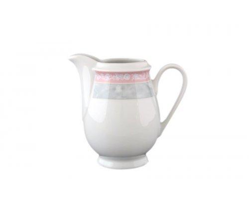 Молочник 250 мл Тхун (Thun) Яна Серый мрамор с розовым кантом