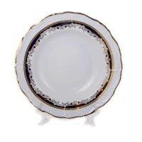 Набор тарелок глубоких 23 см Тхун (Thun) Мария Луиза Синяя лилия (6 шт)