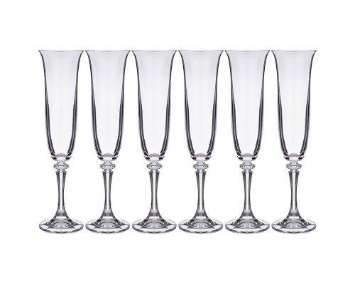 Набор фужеров для шампанского 175 мл Kleopatra Crystalite Bohemia (6 шт)