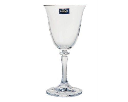Набор бокалов для вина 250 мл Kleopatra Crystalite Bohemia (6 шт)