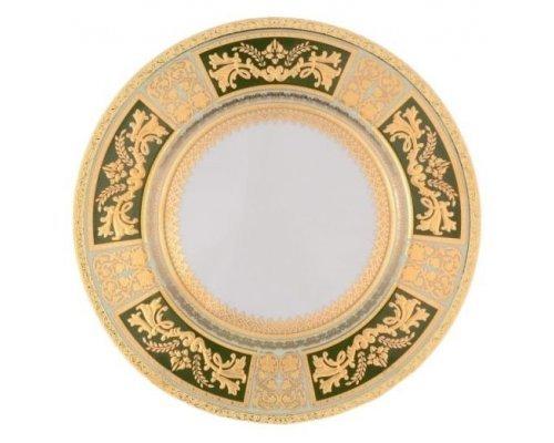 Набор тарелок 27 см Falkenporzellan Diadem Green Mint Gold (6 шт)