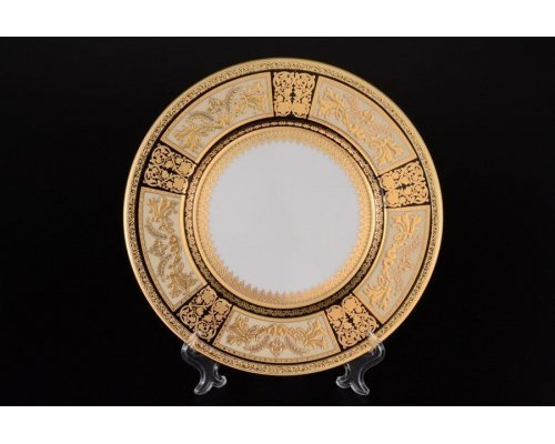 Набор тарелок 27 см Falkenporzellan Diadem Black Creme Gold (6 шт)