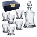 Набор для виски 7 предметов Quadro прозрачная Bohemia Crystal