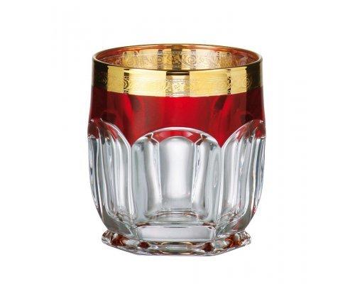 Набор стаканов для виски 250 мл Сафари Рубин Богемия Кристал (Bohemia Crystal) (6 шт)