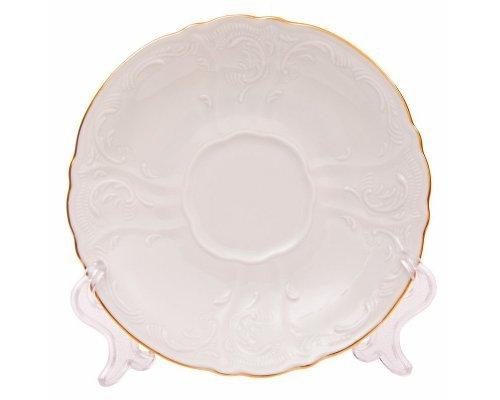 Блюдце 15 см Бернадотт Белый узор