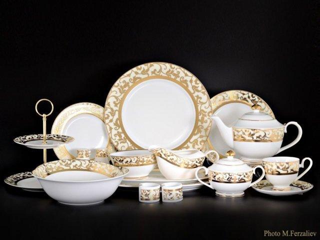 Чайно-столовый сервиз Навруз Karosa на 12 персон 81 предмет (2 коробки)