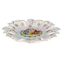 Блюдо фигурное круглое 35 см Мадонна перламутр Корона Queens Crown