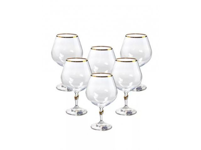 Набор бокалов для бренди 400 мл (6 шт) Lilly Богемия Кристал (Bohemia Crystal)
