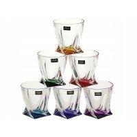 Набор стаканов для виски 340 мл Quadro Богемия Кристал (Bohemia Crystal)