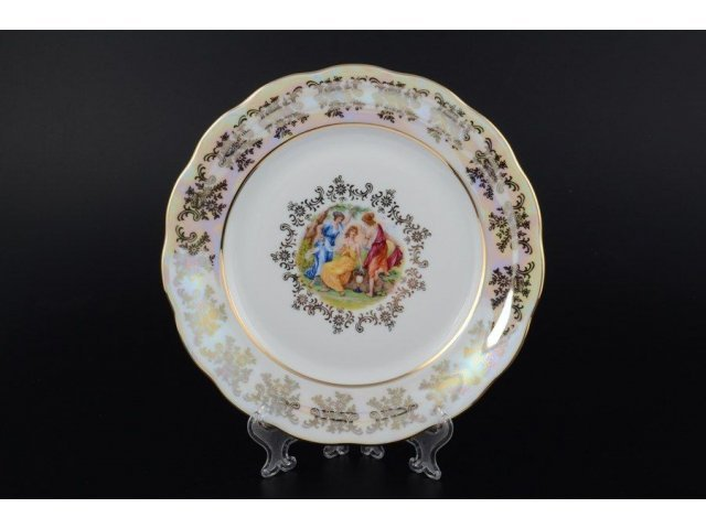 Набор тарелок 21 см 6 предметов Мадонна Перламутр Royal Czech Porcelain