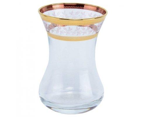 Набор Армуд 120 мл Золотой Лист V-D Богемия Кристал (Bohemia Crystal) (6 шт)