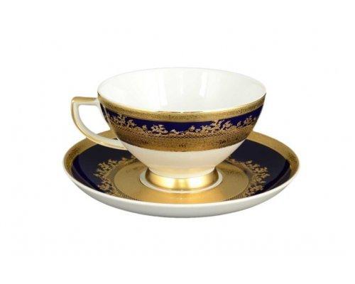 Набор чайных пар 220 мл Constanza Cobalt Gold 9320 (6 шт)