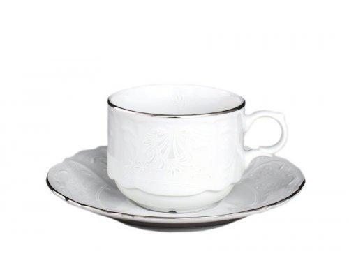 Набор кофейных пар Bernadotte Платиновый узор 120 мл (6 пар)