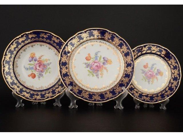 Набор тарелок 18 предметов Констанция Кобольт Полевой цветок Thun (Тхун)