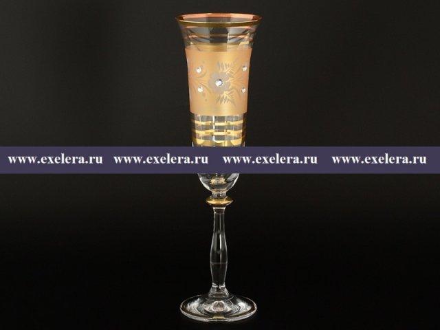 Набор фужеров для шампанского 190 мл Анжела K-A Богемия Кристал (Bohemia Crystal) (6 шт)
