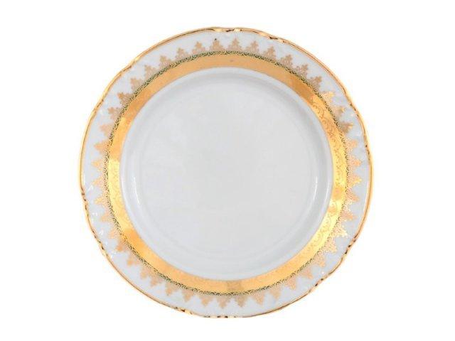 Набор тарелок 17 см Тхун (Thun) Констанция Изумруд Золотой орнамент (6 шт)