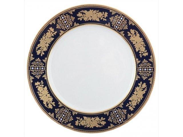 Набор тарелок 19 см Тхун (Thun) Луиза Золотая роза Кобальт (6 шт)