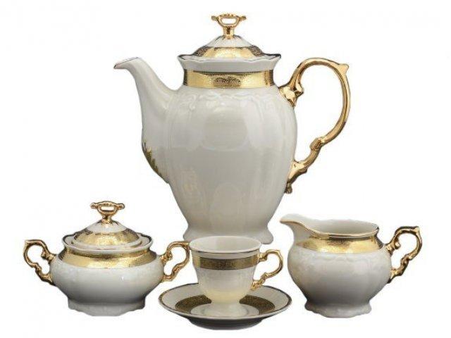 Кофейный сервиз на 6 персон 17 предметов Тхун (Thun) Мария Луиза IVORY 8800310