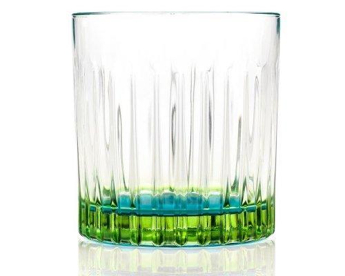 Набор стаканов для виски 360 мл зеленые GIPSY - DOF RCR Cristalleria Italiana