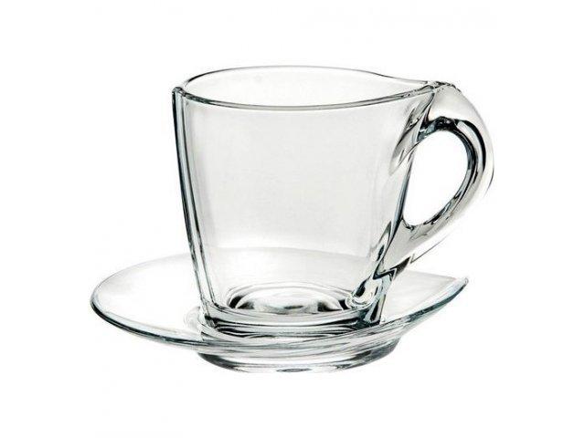Набор кофейных пар 120 мл Happy RCR Cristalleria Italiana (6 пар)