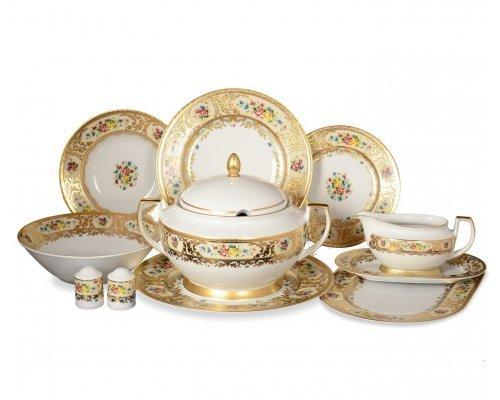 Столовый сервиз на 6 персон 26 предметов Vienna creme gold Falkenporzellan (Фалкенпоцеллан)