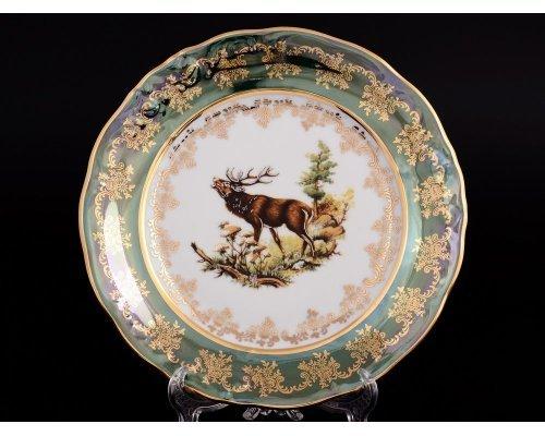 Набор тарелок 24 см Фредерика (6 шт) Зеленая охота Moravec