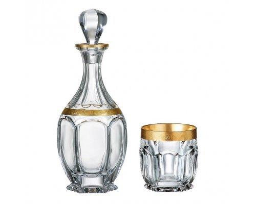 Набор для виски 7 предметов BOHEMIA Сафари GOLD