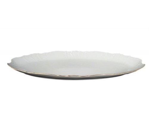 Блюдо для рыбы 52 см Бернадотт Белый узор